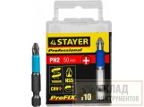 "Биты STAYER ""PROFESSIONAL"" ProFix Phillips, тип хвостовика E 1/4"", № 2, L=50мм, 10шт"